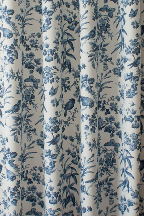 Amelia Blue Curtain Fabric