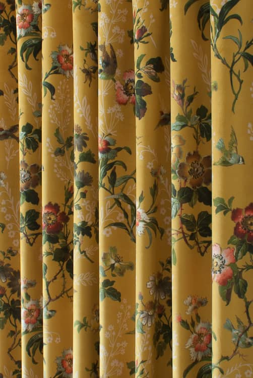 Leighton Velvet Ochre Made to Measure Curtains