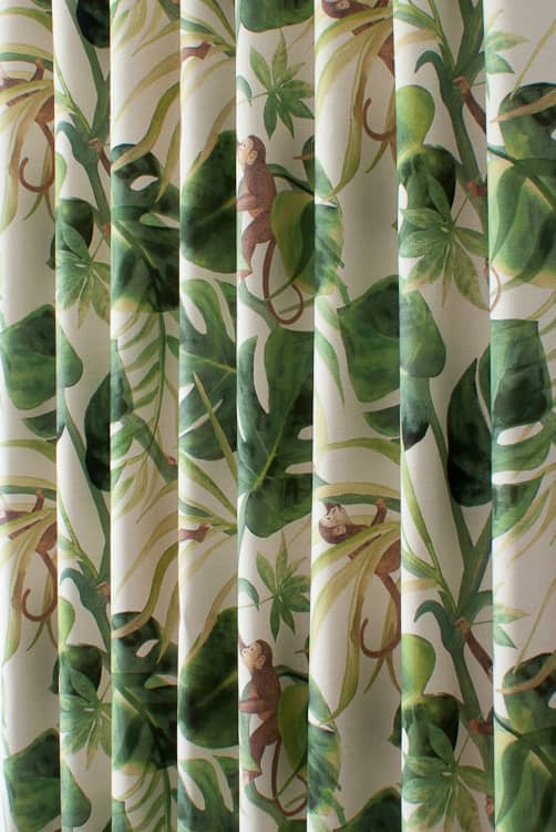 Monkey Business Natural Roman Blinds