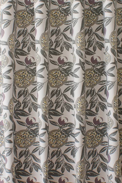 Sanson Plum Curtain Fabric