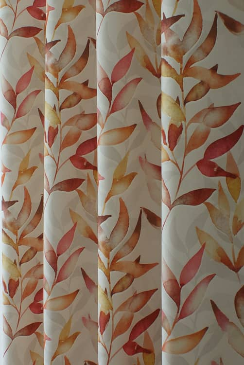 Cranmore Coral Curtain Fabric
