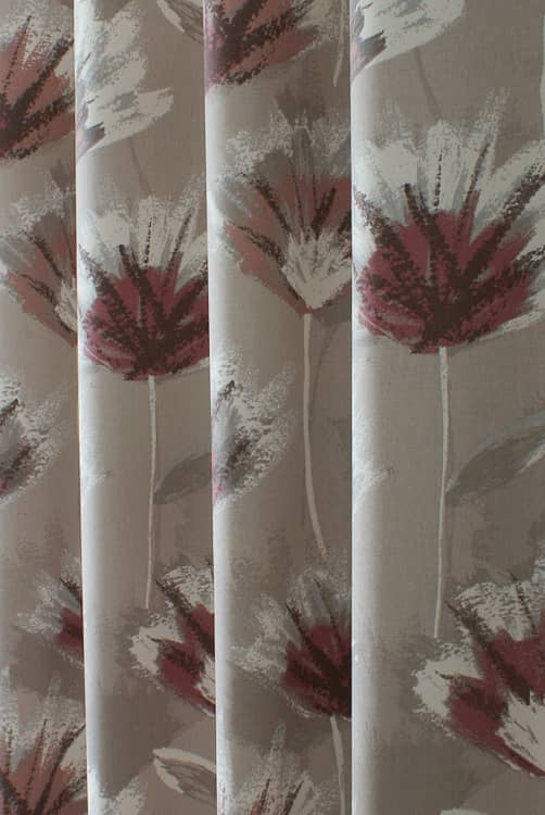 Zinio Rose Curtain Fabric