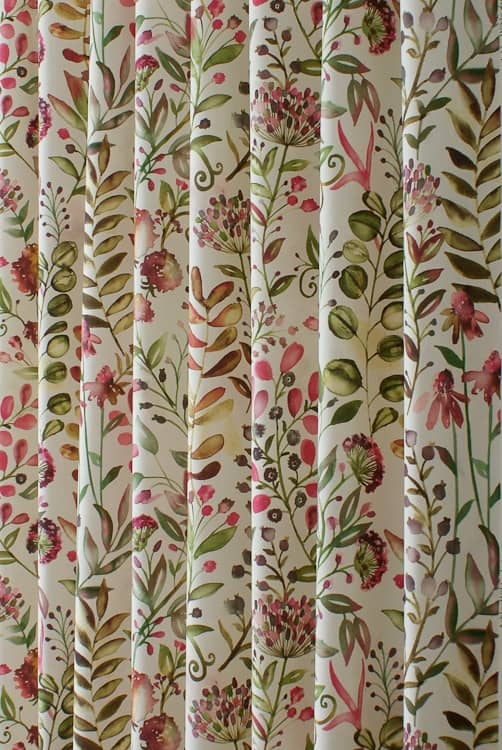 Whitwell Magenta Curtain Fabric
