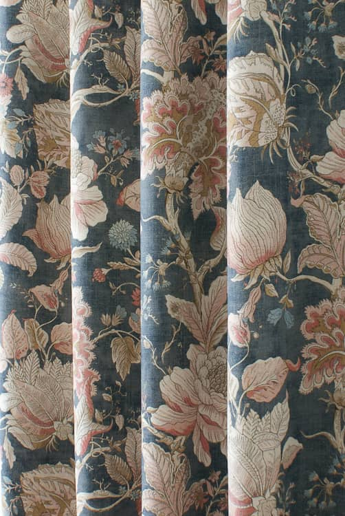 Sissinghurst Midnight Made to Measure Curtains