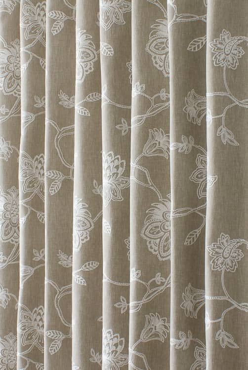 Whitewell Natural Curtain Fabric
