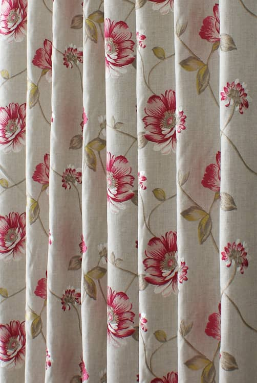 Malindi Chintz Red Made to Measure Curtains