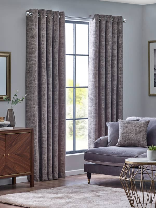Orion Zinc Ready Made Curtains