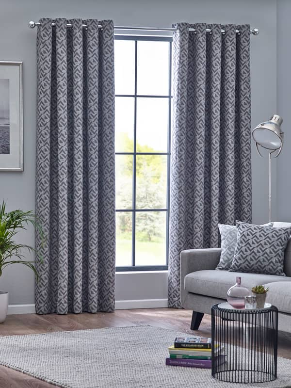 Byron Graphite Ready Made Curtains