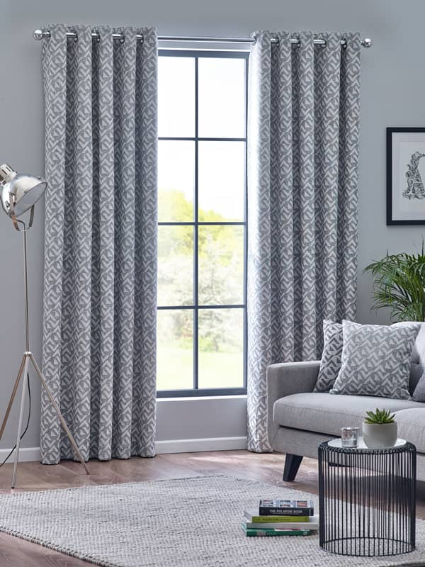 Byron Monochrome Ready Made Curtains