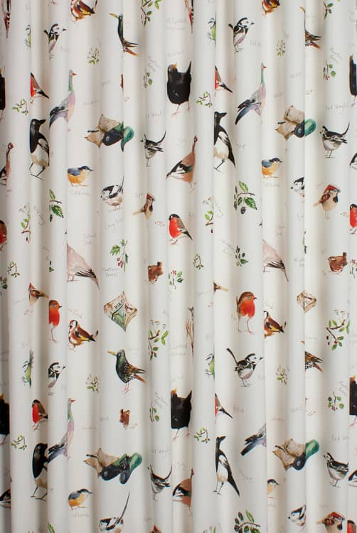 Bird Watch Cream Roman Blinds