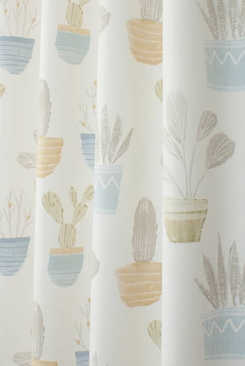 Cactus Chambray/Honey Roman Blinds