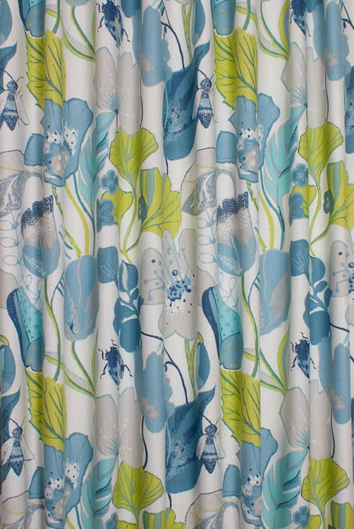Lotus Apple/Denim Roman Blinds
