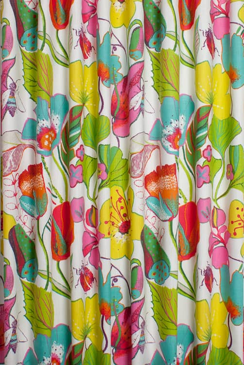 Lotus Summer Curtain Fabric