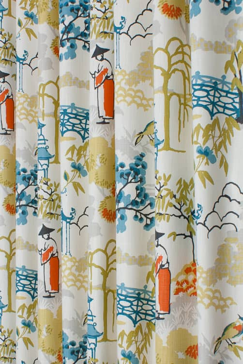Pagoda Spice Curtain Fabric