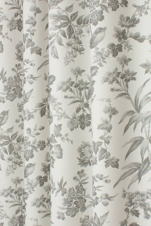 Amelia Grey Curtain Fabric