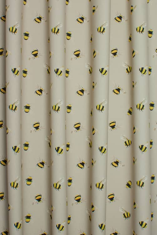 Bees Taupe Roman Blinds