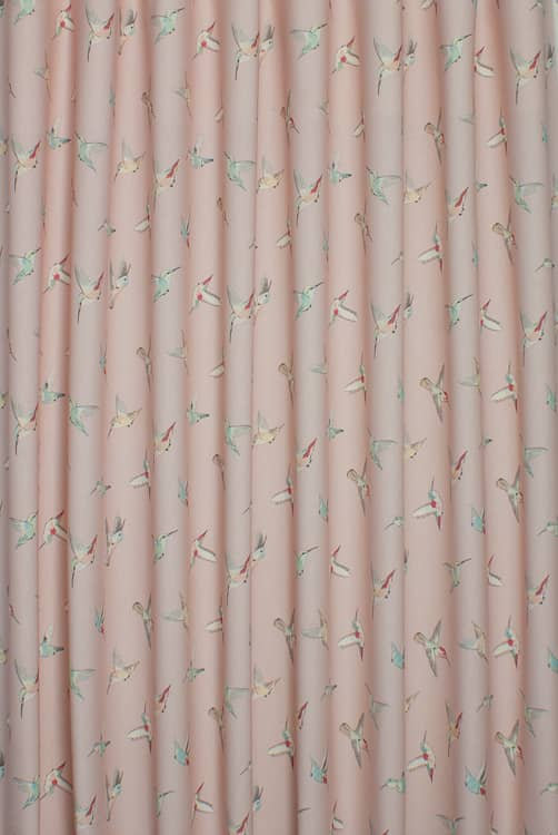 Hummingbird Pink Roman Blinds