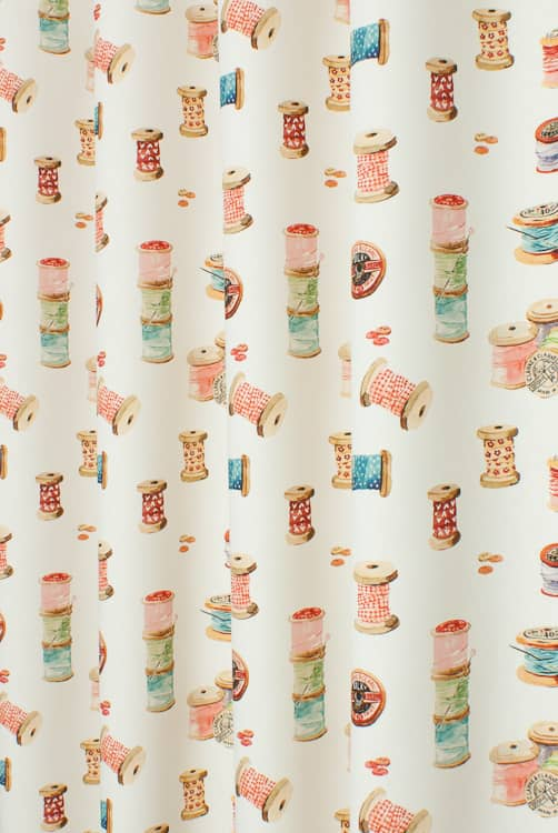 Sewing Cream Curtain Fabric