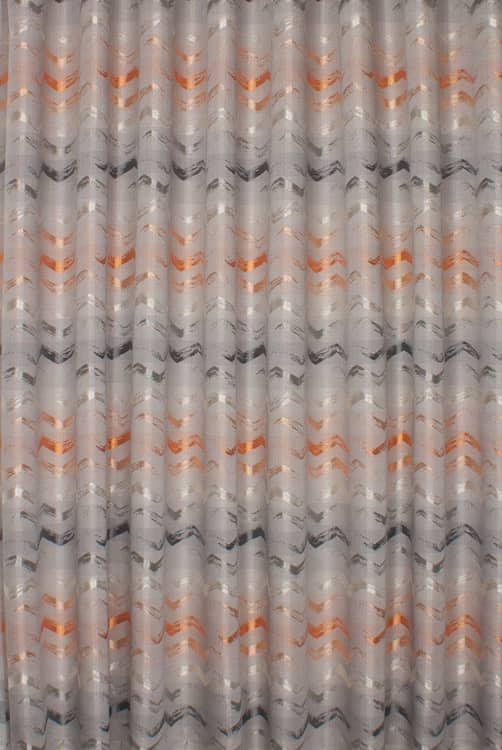 Biscay Amber Curtain Fabric