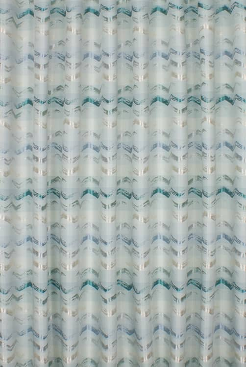 Biscay Teal Curtain Fabric