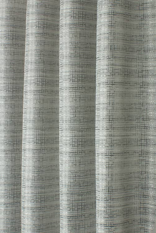 Network Silver Curtain Fabric