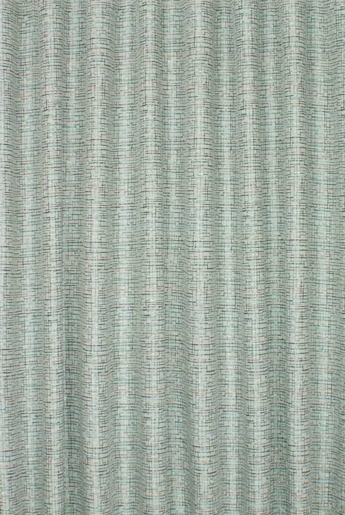 Network Teal Curtain Fabric
