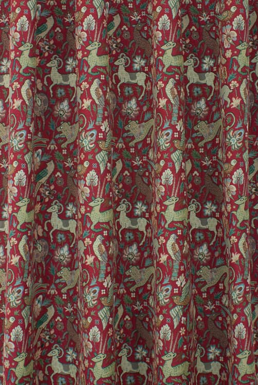 Bangalore Red Made to Measure Curtains