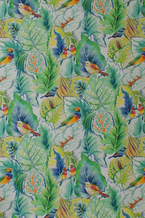 Lovebirds Spring Curtain Fabric
