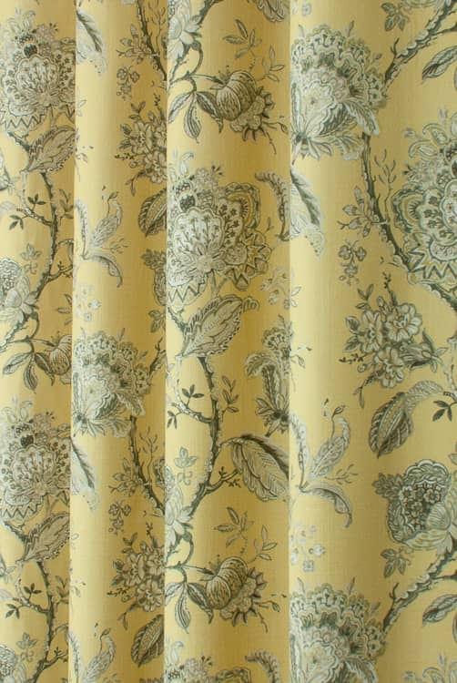 Rosemore Ochre Curtain Fabric