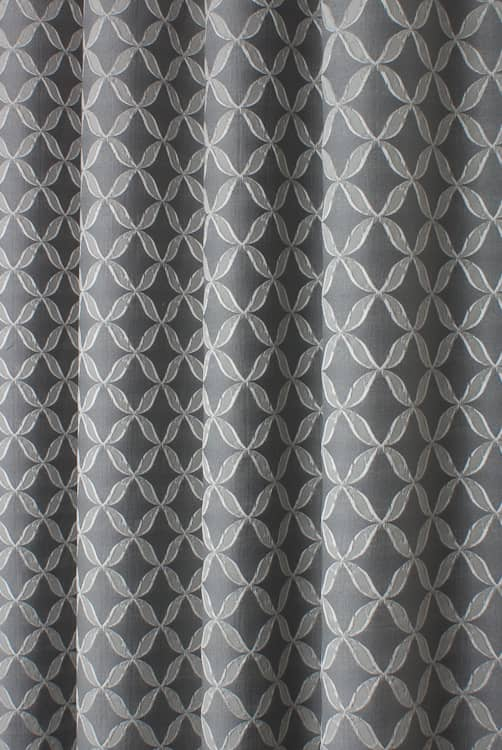 Erla Graphite Curtain Fabric