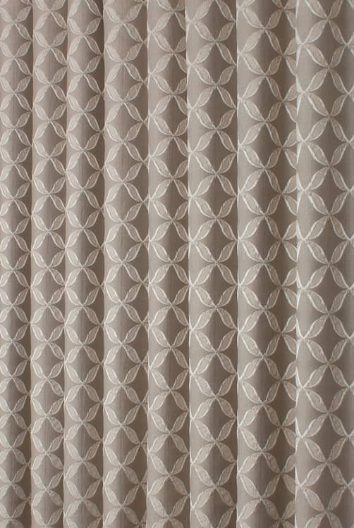 Erla Truffle Curtain Fabric