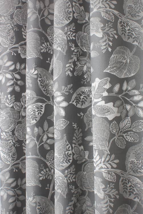 Winton Graphite Curtain Fabric