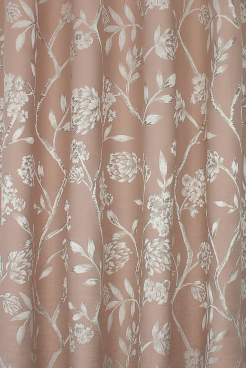 Wavertree Blush Curtain Fabric