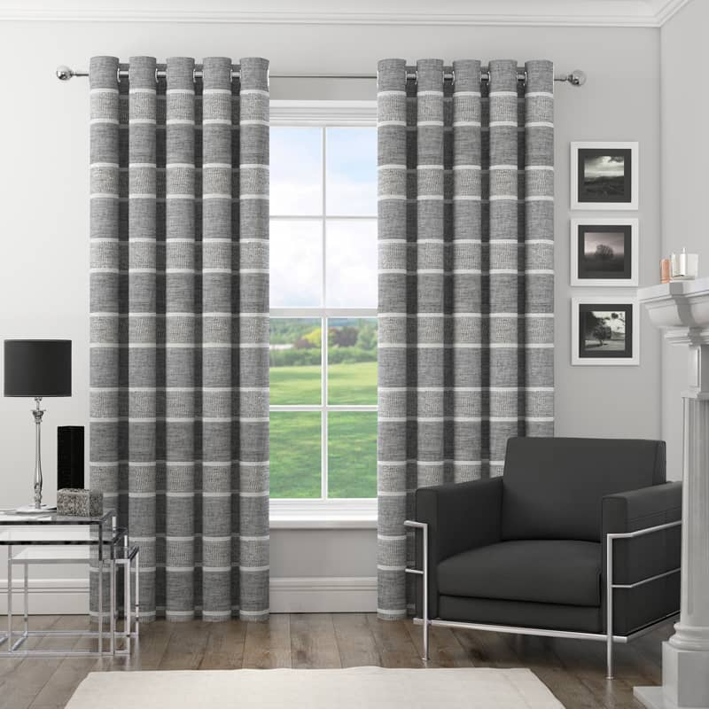 Harlem Silver Ready Made Curtains