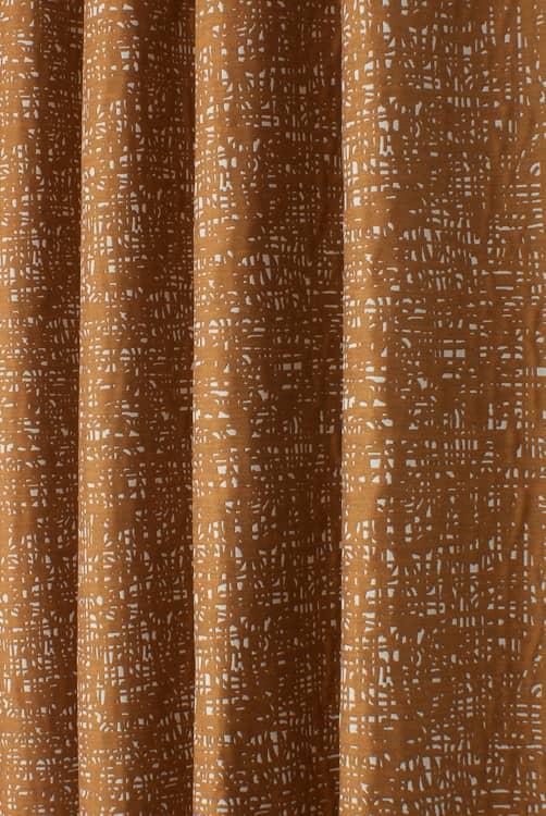 Bark Texture Orange Curtain Fabric