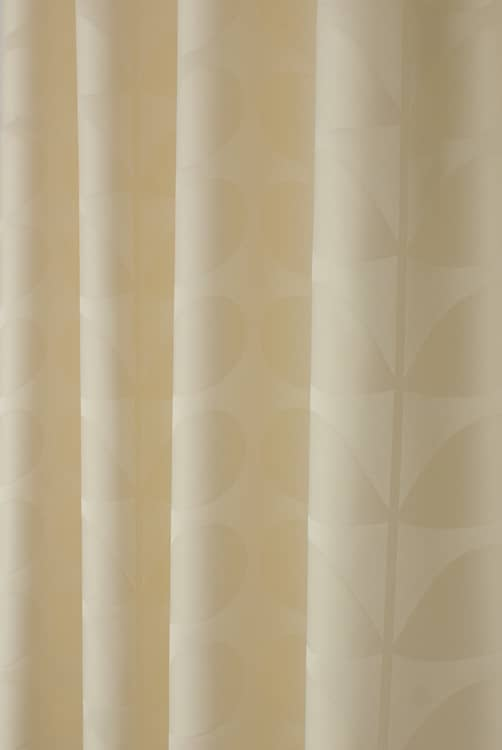 Jacquard Stem Cream Curtain Fabric