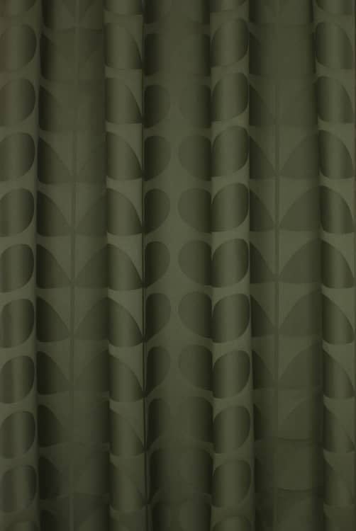 Jacquard Stem Khaki Made to Measure Curtains