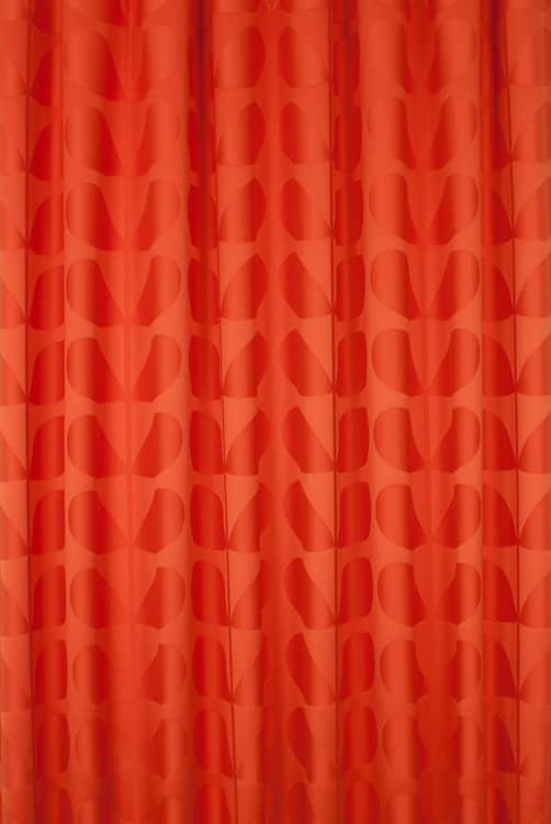Jacquard Stem Tomato Made to Measure Curtains