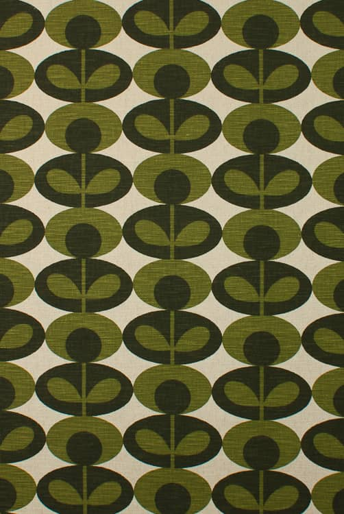 Slub Cotton Oval Flower Khaki