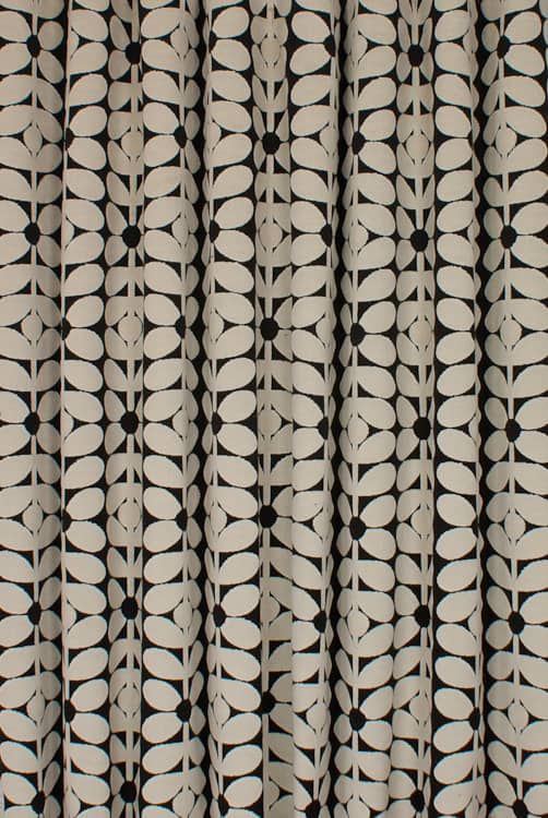 Velvet Sixties Stem Charcoal Curtain Fabric