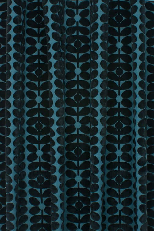 Velvet Sixties Stem Dark Marine Made to Measure Curtains