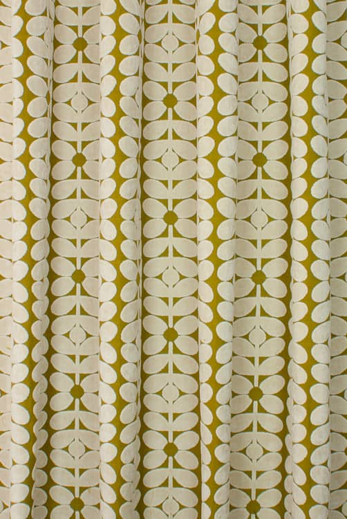 Velvet Sixties Stem Yellow Roman Blinds