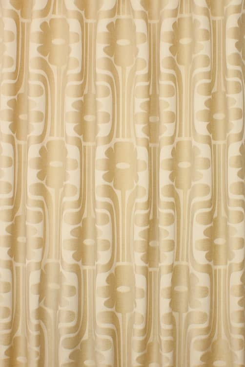 Woven Climbing Daisy Cream Made to Measure Curtains