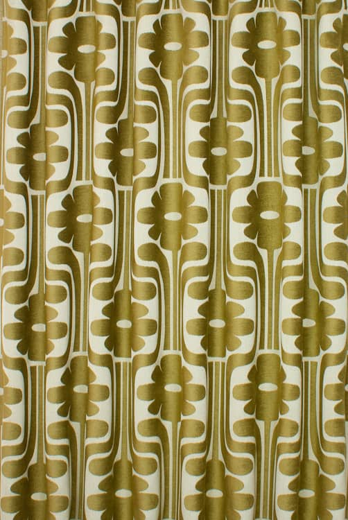 Woven Climbing Daisy Yellow Made to Measure Curtains
