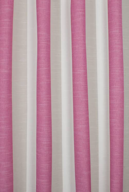 Buckton Fuchsia Curtain Fabric