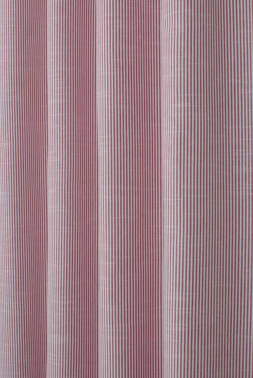 Bempton Red Curtain Fabric