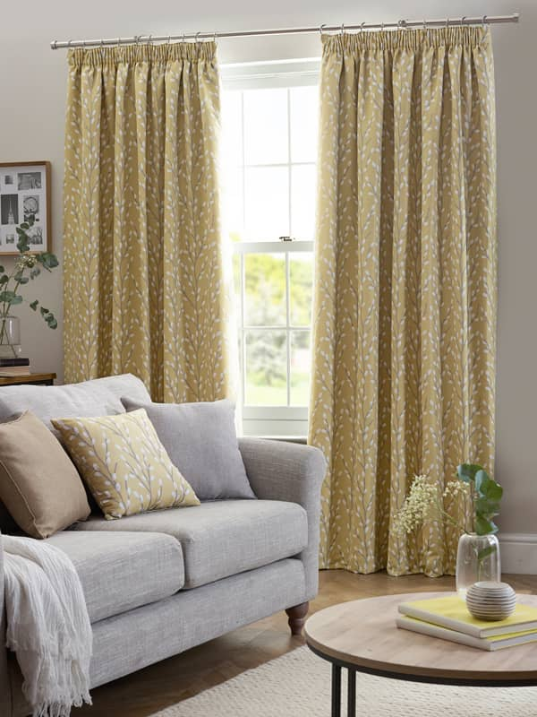 Sienna Ochre Ready Made Curtains