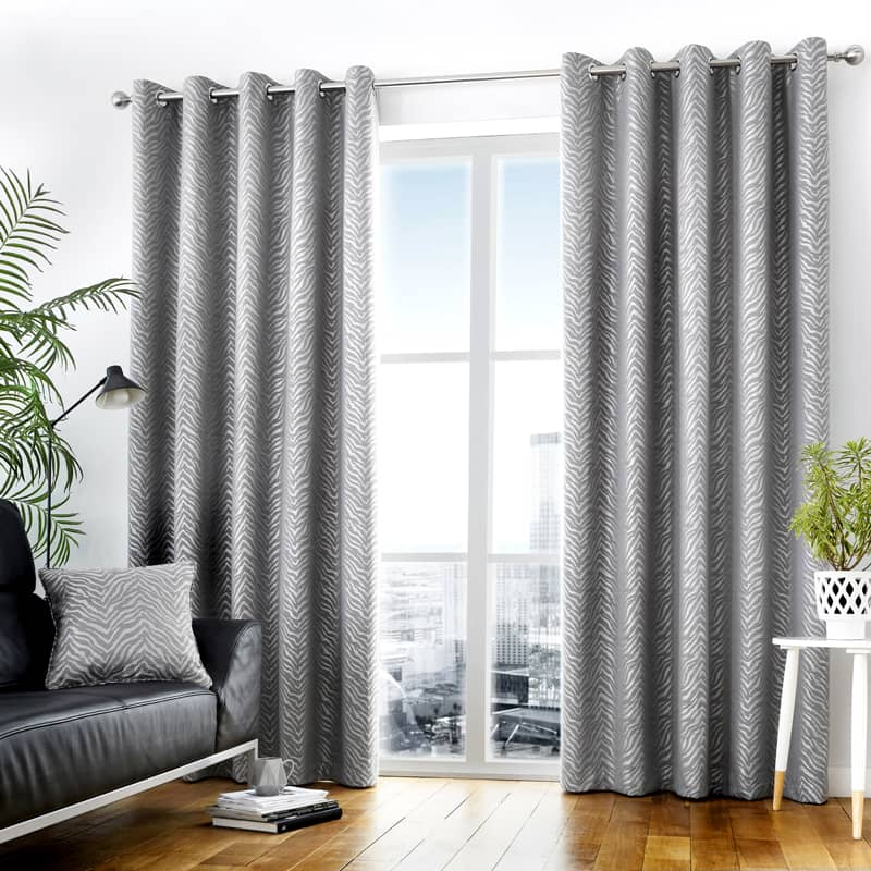Africa Graphite Ready Made Curtains