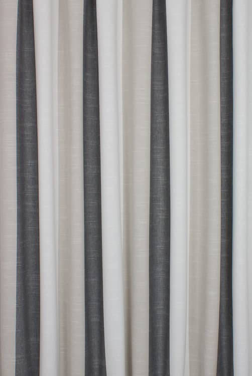 Buckton Charcoal Curtain Fabric