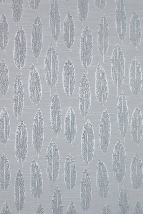 Quill Silver Grey Curtain Fabric